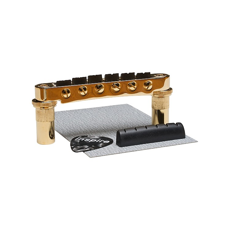 Graph Tech Supercharger Kit for Guitars Equipped with 6mm post Tune-O-Matic Bridges Gold