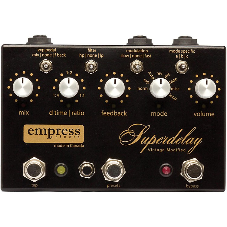 Empress Effects Superdelay Digital Delay Guitar Effects Pedal