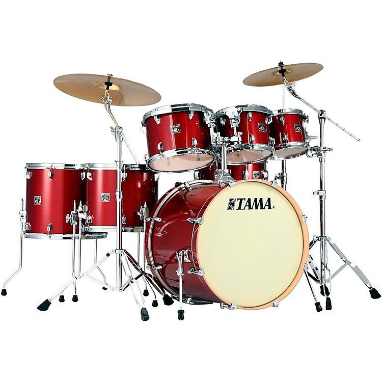 Tama Superstar Classic 7-Piece Shell Pack Red Sparkle