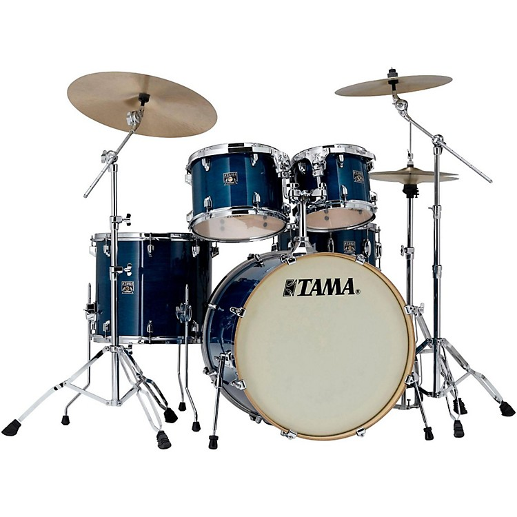 Tama Superstar Classic Custom 5-Piece Shell Pack Transparent Blue Lacquer
