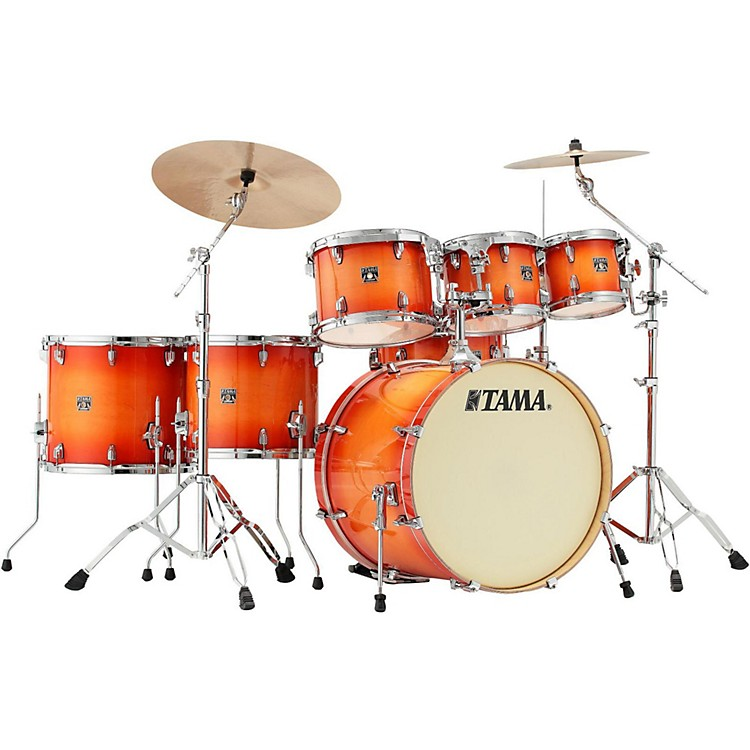 TAMA Superstar Classic Custom 7-Piece Shell Pack Tangerine Lacquer Burst
