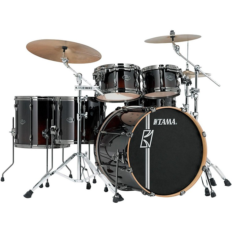 Tama Superstar Hyper-Drive Maple 6-Piece Shell Pack Dark Mocha Fade