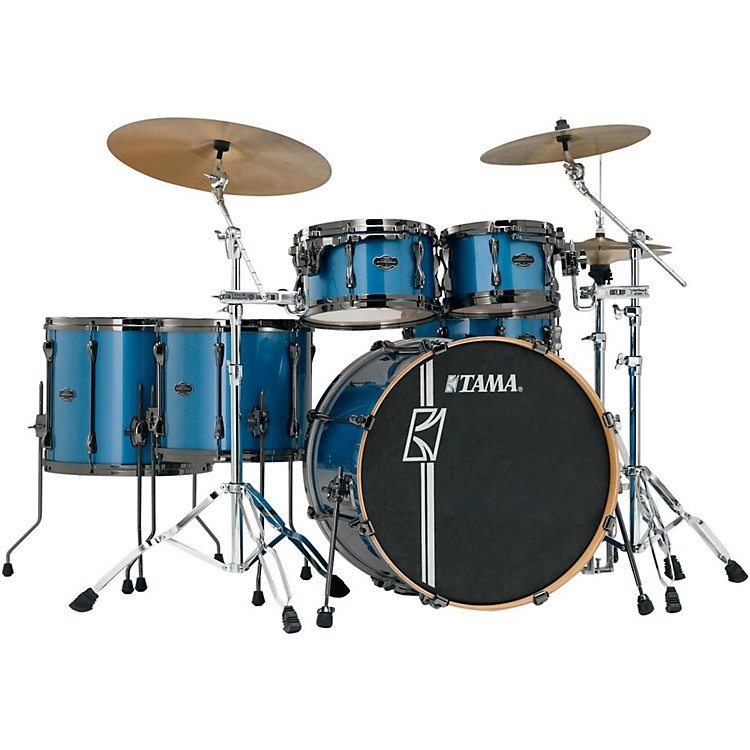 Tama Superstar Hyper-Drive Maple 6-Piece Shell Pack Vintage Blue Metallic