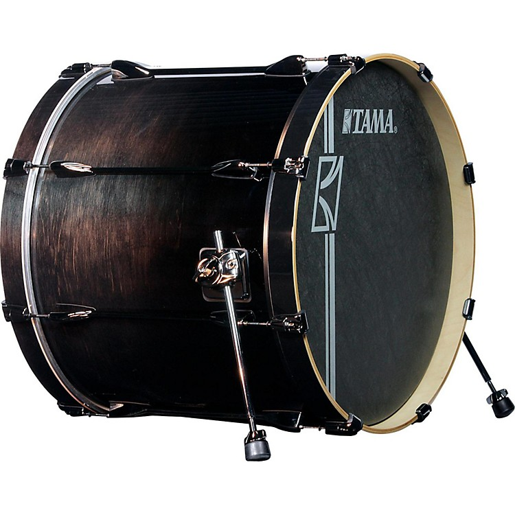 Tama Superstar Hyper-Drive SL Bass Drum with Black Nickel Hardware 22 x 18 in. Transparent Black Fade