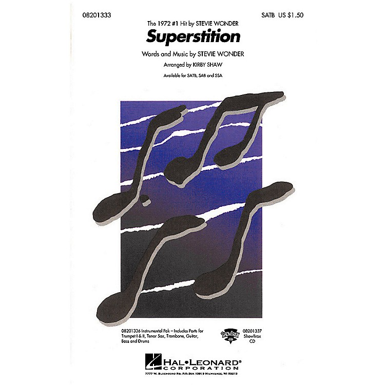 Hal LeonardSuperstition Combo Parts by Stevie Wonder Arranged by Kirby Shaw