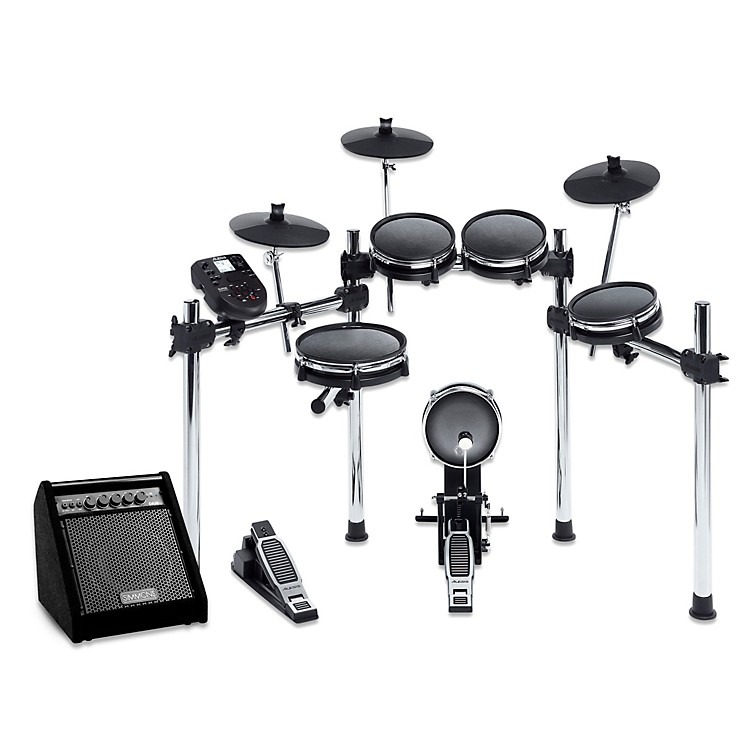 Alesis Surge Mesh-Head Electronic Drum Set with Simmons DA50B Bluetooth Monitor