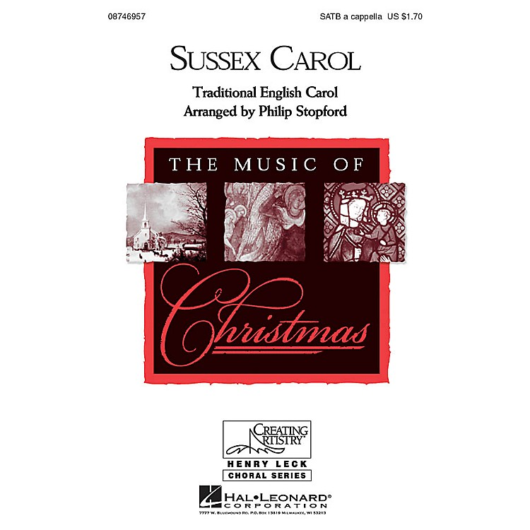Hal LeonardSussex Carol SATB a cappella arranged by Philip Stopford