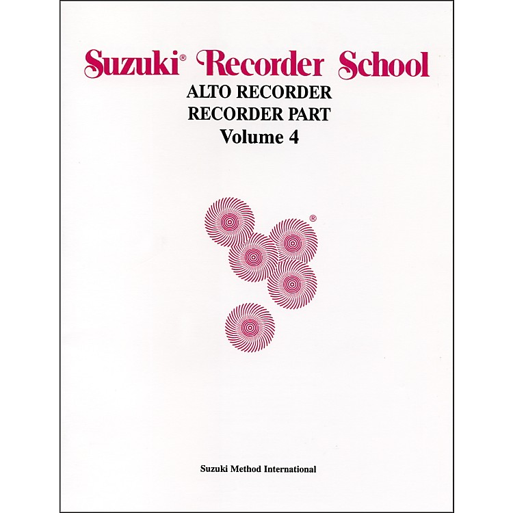Alfred Suzuki Recorder School (Alto Recorder) Recorder Part Volume 4