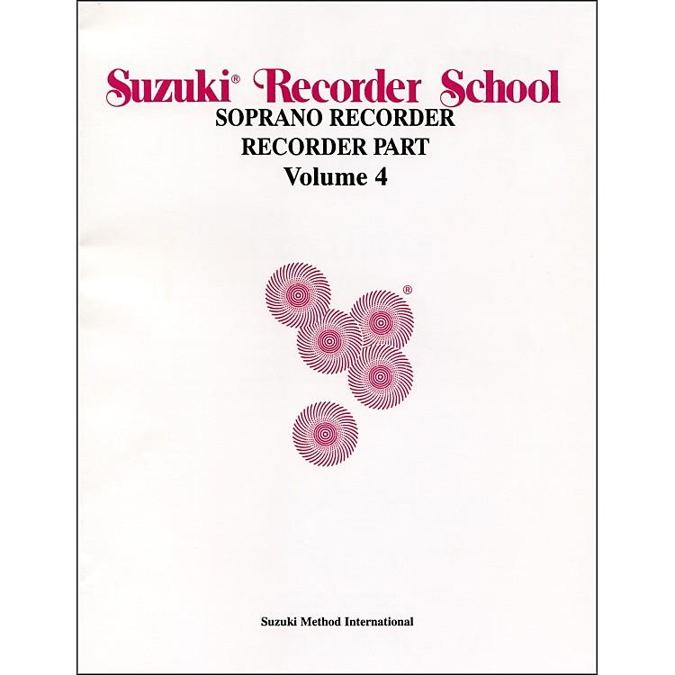 AlfredSuzuki Recorder School (Soprano Recorder) Recorder Part Volume 4