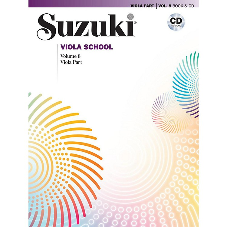 Alfred Suzuki Viola School Viola Part & CD - Volume 8 Book & CD