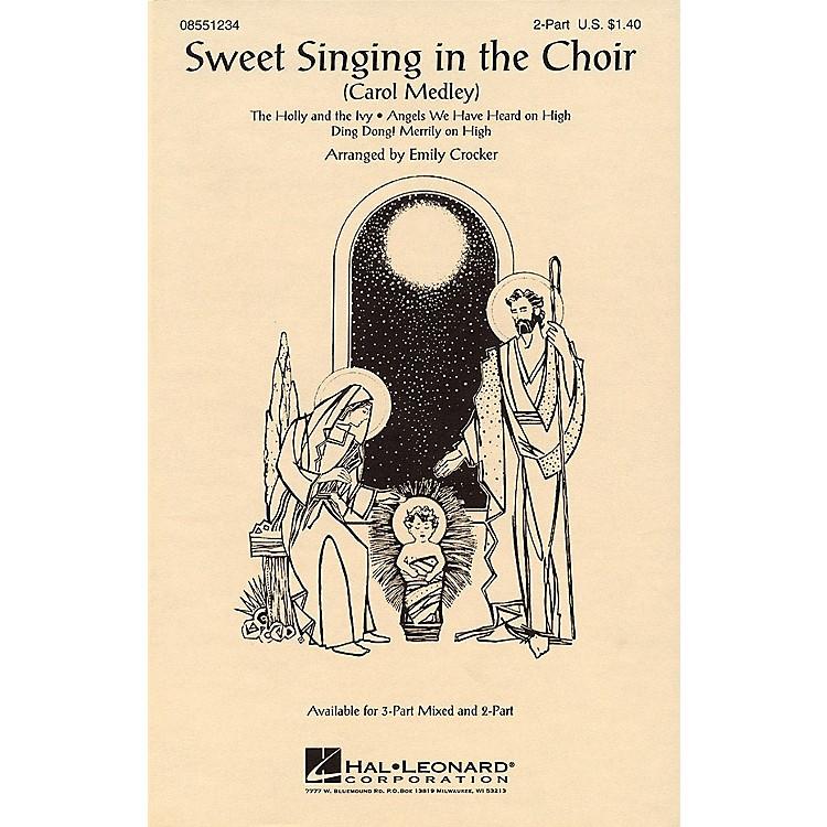 Hal LeonardSweet Singing in the Choir (Carol Medley) 3-Part Mixed Arranged by Emily Crocker