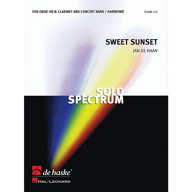 De Haske MusicSweet Sunset (for Clarinet or Oboe Soloist and Band) Concert Band Level 3 Composed by Jan de Haan