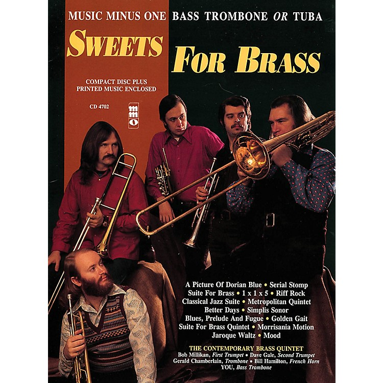 Music Minus OneSweets for Brass (Music Minus One Bass Trombone or Tuba) Music Minus One Series Softcover with CD