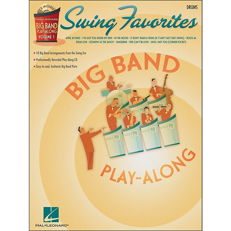 Hal Leonard Swing Favorites Big Band Play-Along Vol. 1 Drums Book/CD