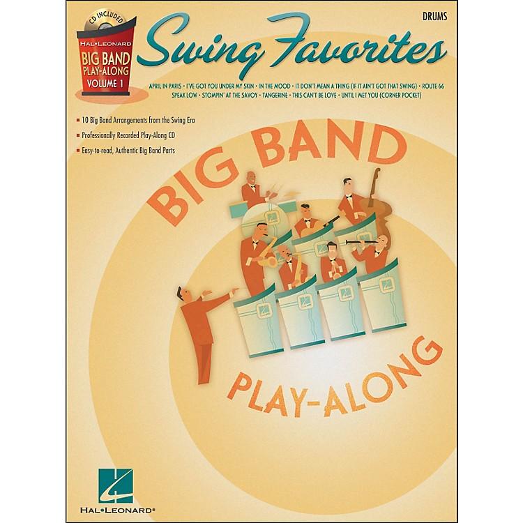 Hal LeonardSwing Favorites Big Band Play-Along Vol. 1 Drums Book/CD