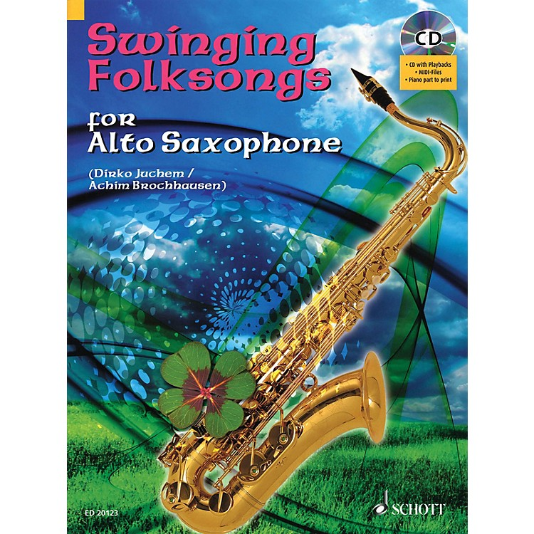 Hal LeonardSwinging Folksongs Play-along For Alto Saxophone Bk/CD With Piano Parts To Print Woodwind Solo Series