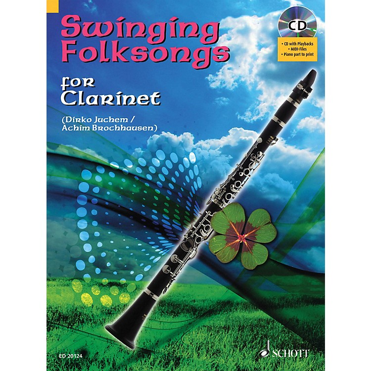 Hal LeonardSwinging Folksongs Play-along For Clarinet Bk/CD With Piano Parts To Print Woodwind Solo Series