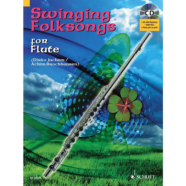 Hal LeonardSwinging Folksongs Play-along For Flute Bk/CD With Piano Parts To Print Woodwind Solo Series