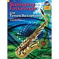 Hal Leonard Swinging Folksongs Play-along For Tenor Saxophone Bk/CD With Piano Parts To Print Woodwind Solo Series