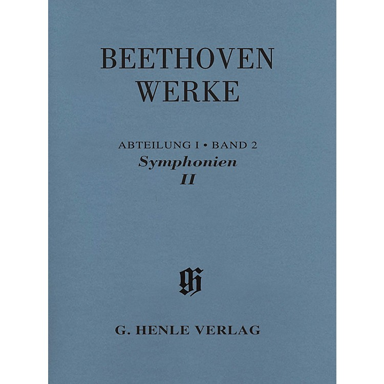 G. Henle Verlag Symphonies II Henle Edition Softcover by Beethoven Edited by Bathia Churgin