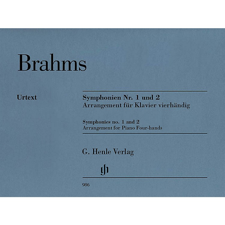 G. Henle Verlag Symphonies Nos. 1 and 2 Henle Music Folios Softcover Composed by Johannes Brahms Edited by Robert Pascall