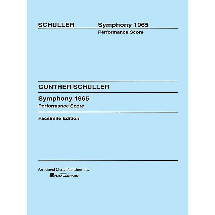 Associated Symphony (1965) (Full Score) Study Score Series Composed by Gunther Schuller
