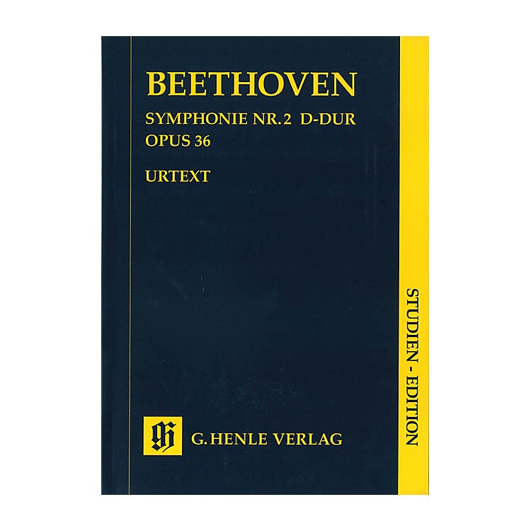 G. Henle VerlagSymphony D Major Op. 36, No. 2 (Study Score) Henle Study Scores Series Softcover by Ludwig van Beethoven