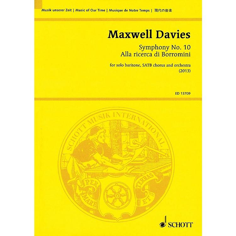 SchottSymphony No. 10 'Alla ricerca di Borromini' Study Score Series Softcover Composed by Peter Maxwell Davies