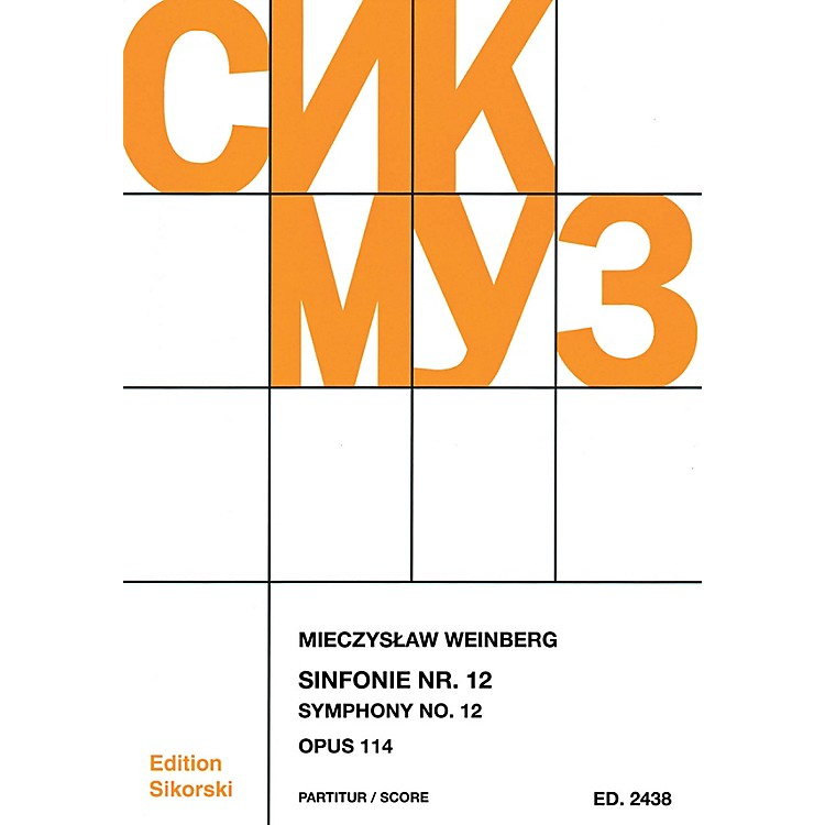 SikorskiSymphony No. 12, Op. 114 (Study Score) Score Series Softcover Composed by Mieczyslaw Weinberg