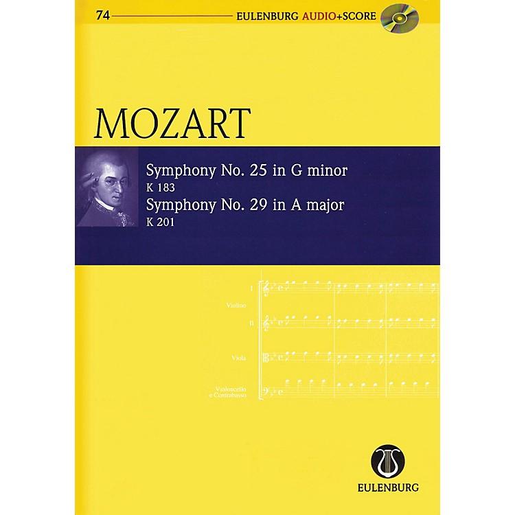 EulenburgSymphony No. 25 G Minor K183 and Symphony No. 29 A Major K201 Eulenberg Audio plus Score by Mozart