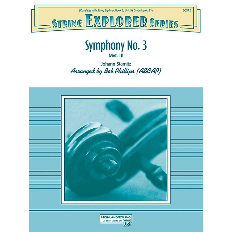 Alfred Symphony No. 3 String Orchestra Grade 2.5
