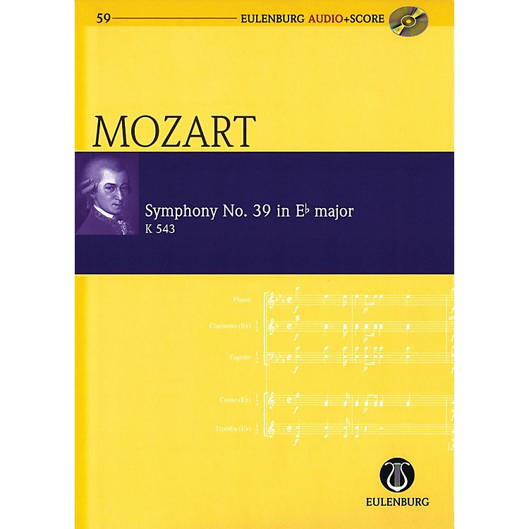 Eulenburg Symphony No. 39 in E-flat Major K543 Eulenberg Audio plus Score w/ CD by Mozart Edited by Richard Clarke