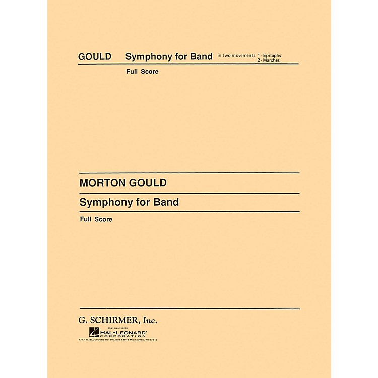 G. SchirmerSymphony No. 4 for Band (West Point Symphony) (Score and Parts) Concert Band Level 4-5 by Morton Gould
