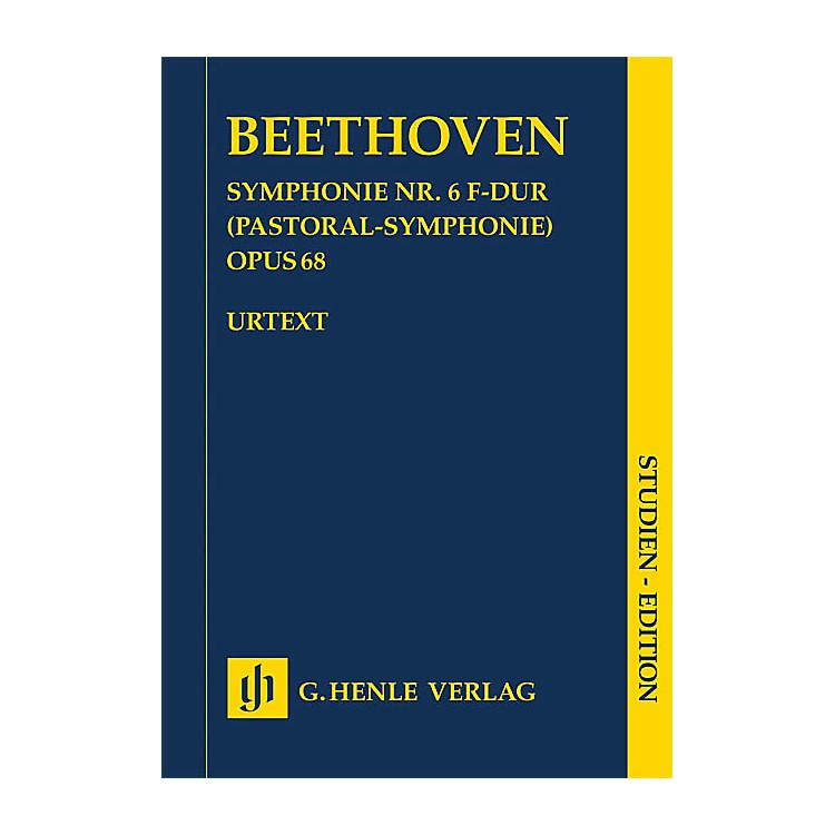 G. Henle Verlag Symphony No. 6 in F Major, Op. 68 (Pastoral Symphony) Henle Study Scores by Beethoven Edited by Dufner