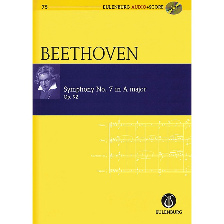 EulenburgSymphony No. 7 in A Major Op. 92 Eulenberg Audio plus Score Softcover with CD by Ludwig van Beethoven