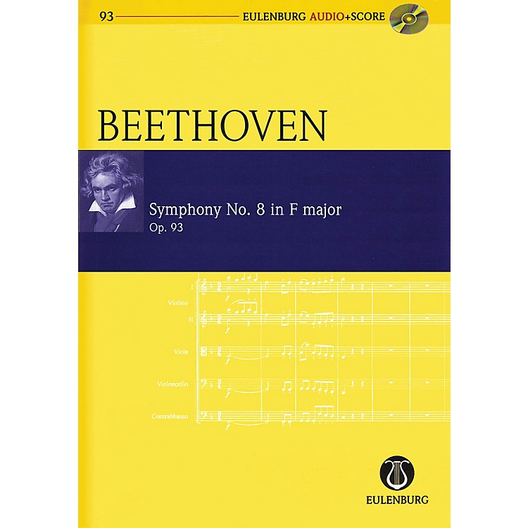 SchottSymphony No. 8 in F Major, Op. 93 Study Score Series Softcover with CD Composed by Ludwig van Beethoven