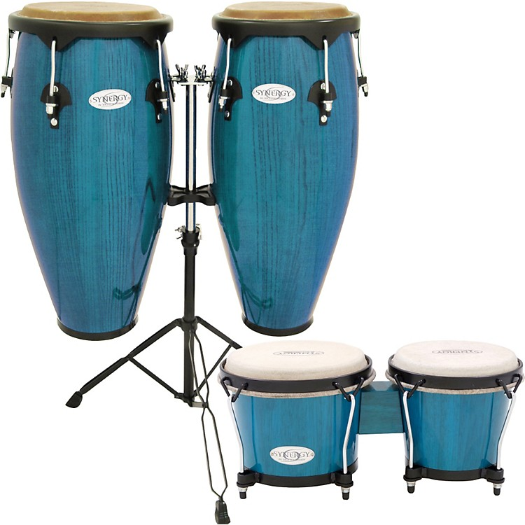 toca synergy conga set with stand and bongos music123. Black Bedroom Furniture Sets. Home Design Ideas