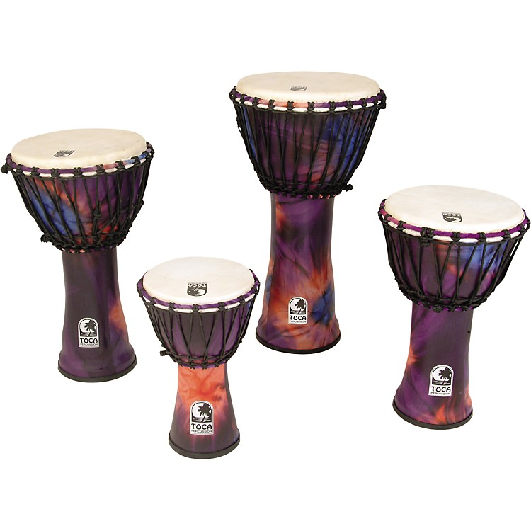 Toca Synergy Freestyle Rope Tuned Djembe 7 in Purple