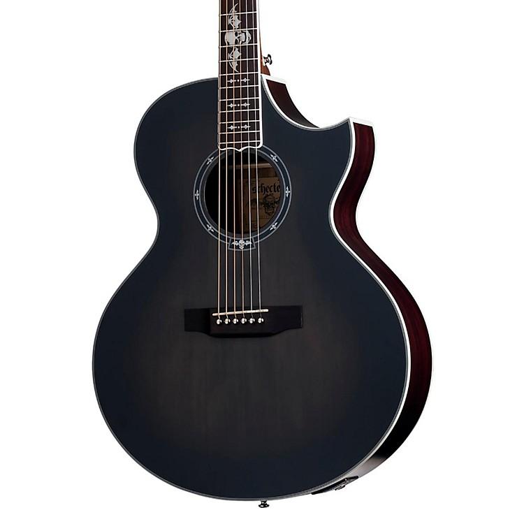 Schecter Guitar ResearchSynyster Gates 3701 Acoustic-Electric GuitarTransparent Black Burst Satin
