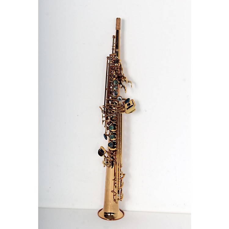 P. Mauriat System 76 One-Piece Professional Soprano Saxophone Gold Lacquer 888365745282