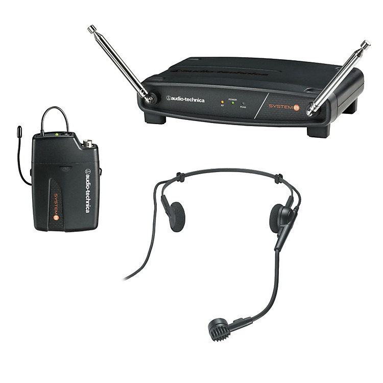 Audio-Technica System 8 Wireless System includes: PRO 8HEcW headworn microphone 171.905 MHz