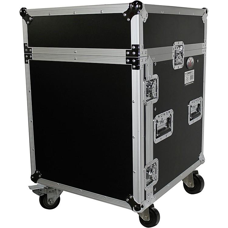 ProXT-12MRSS 12U Rack and 10U Top Mixer DJ Combo ATA Flight Road CaseBlack