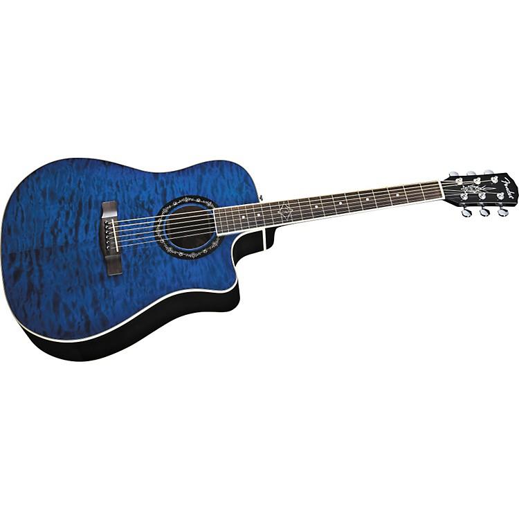 FenderT-Bucket 300 CE Cutaway Acoustic-Electric Dreadnought GuitarTransparent Blue
