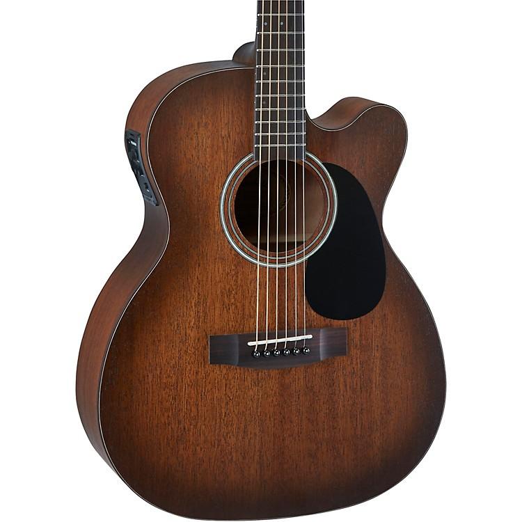 MitchellT333CE-BST Solid Top Mahogany Auditorium Acoustic-Electric GuitarEdge Burst