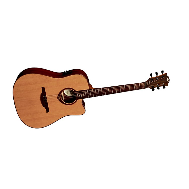 Lag Guitars T400DCE Dreadnought Cutaway Acoustic-Electric Guitar