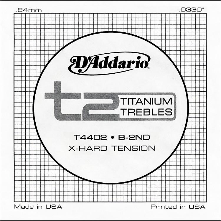 D'AddarioT4402 T2 Titanium X-Hard Single Classical Guitar String