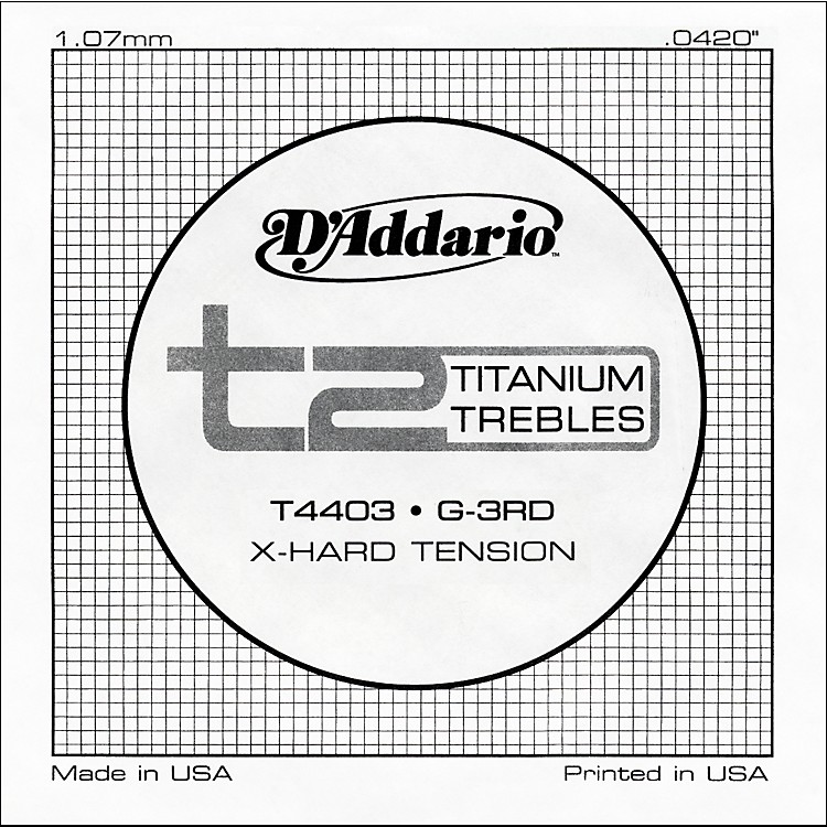 D'AddarioT4403 T2 Titanium X-Hard Single String