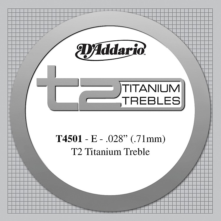 D'AddarioT4501 T2 Titanium Normal Single String