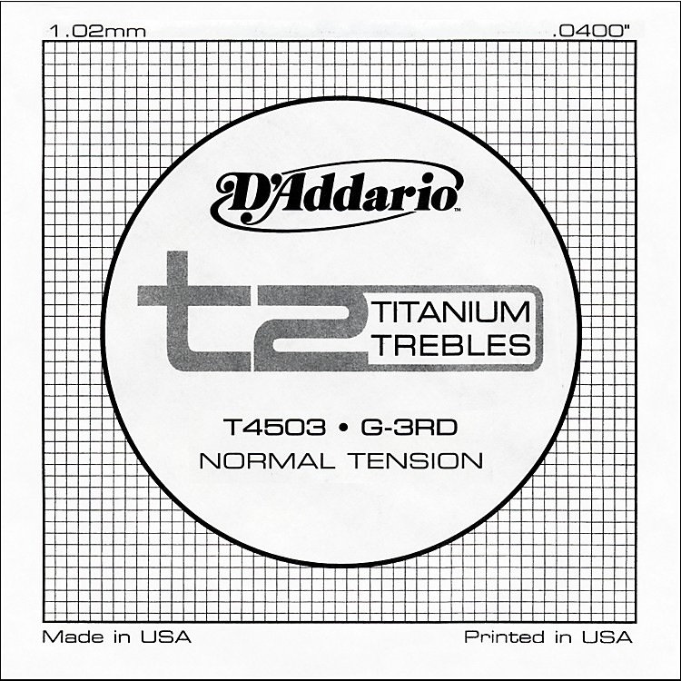 D'AddarioT4503 T2 Titanium Normal Single Guitar String
