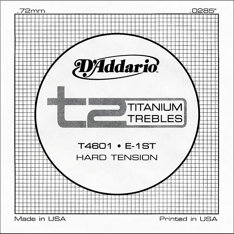 D'AddarioT4601 T2 Titanium Hard Single Guitar String